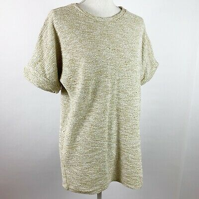 $16.59 • Buy Zara Collection Small Blouse Oversized Heathered Green White Textured Womens