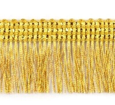 3cm Gold Metallic Chainette Fringe Trimming Sewing Crafts Edging Curtains • 1.99£
