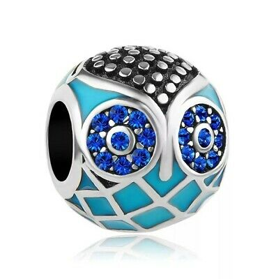 £10.99 • Buy S925 Sterling Silver Owl Turquoise Charm For A Charm Bracelet, In A Gift Pouch