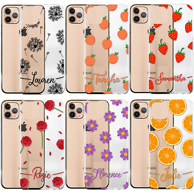 £6.99 • Buy Personalised Phone Case For Apple IPhone 11/12, Initial Flowers Clear Hard Cover