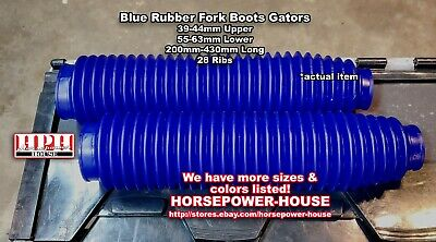 AU66.75 • Buy 43mm Blue Fork Boots Gaiters 80's 90's Yamaha IT200 IT250 IT490 TT600 TTR250 500