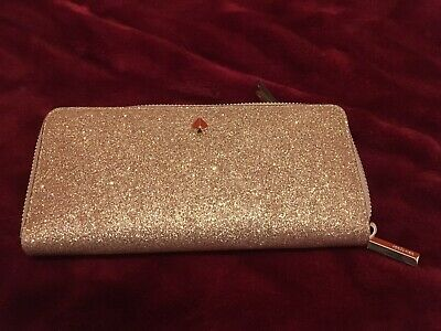 $ CDN95 • Buy Kate Spade Burgess Court Slim Continental Glitter Leather Wallet
