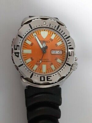 $ CDN386.67 • Buy Seiko Diver  Orange Monster Automatic Mens Watch pre-owned