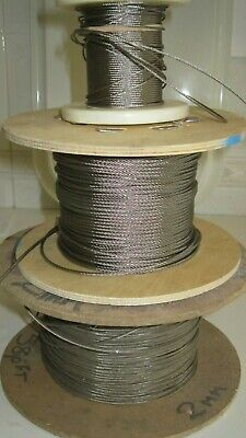 £1.58 • Buy 4mm Stainless Steel 1 X 19 Wire Rope Cable Rigging Price Per M FREE POST
