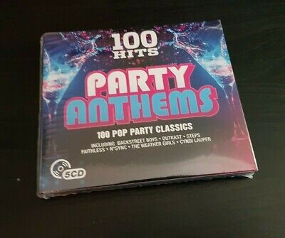 5 Disc Cd Album - 100 Hits - Party Anthems - New And Sealed - Steps / Nsync / Le • 1.50£