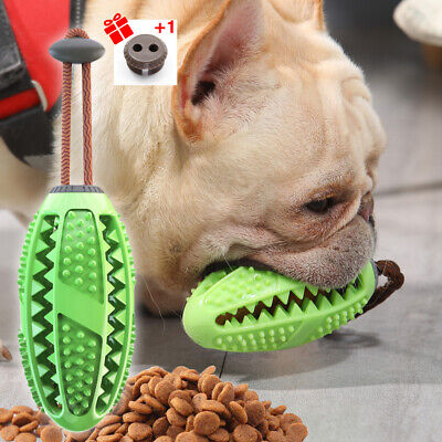 Dog Treat Ball Interactive Toothbrush Chew Toys Cleaning Food Dispenser Feeder • 4.48£
