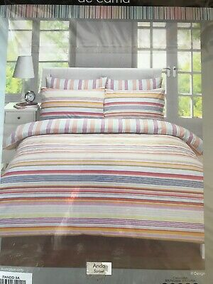 Striped Sorbet Nautical Summer Colours King Size Duvet Set • 19.50£