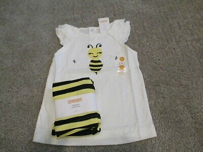 $19 • Buy Gymboree Bee Chic Top & Yellow Black Striped Leggings 4t Nwt