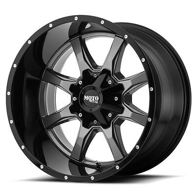 $876 • Buy 20x10 GRAY Rims MOTO METAL 970 LIFTED FORD F250 F350 Truck 1999-2020 8x170 -24MM