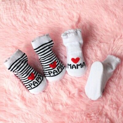 One Pair New MAMA 0-6 Mnth Old Baby Girl/Boy Cotton Socks  • 1.50£