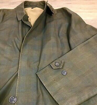 $ CDN72.91 • Buy USA Made Vintage Koratron Green Plaid Mens Overcoat Crombie Raincoat Size Large