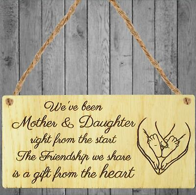 £3.89 • Buy Mother And Daughter Keepsake Gift For Christmas Birthday Present Thank You Sign