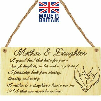 £3.99 • Buy Mother And Daughter Gift Mothers Day Sign Plaque Mum Christmas Birthday Gift Mum