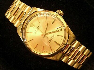 $ CDN10895.98 • Buy Rolex Oyster Perpetual Mens Solid 14K Yellow Gold Watch W/President Style Band