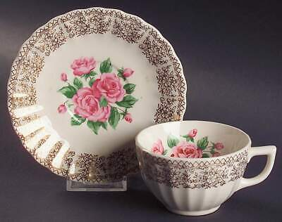 $9.99 • Buy Sebring Pottery CHINA BOUQUET Cup & Saucer 660732