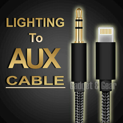 AU7.18 • Buy Lightning To 3.5mm Jack Male Audio AUX Cable For IPhone 11 XS Max XR 8 7 IOS 13