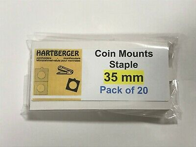 AU2.40 • Buy HARTBERGER BRAND 20 Staple Type 2 X 2 Coin Holders 35mm