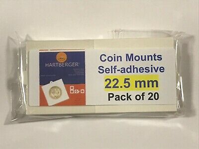 AU4 • Buy HARTBERGER BRAND 20 Self Adhesive 2 X 2 Coin Holders 22.5mm