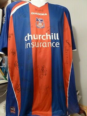 Crystal Palace 2005/06 Home Signed Football Shirt-signed By 25 Of The First Team • 44.99£
