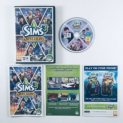 The Sims 3 Ambitions Expansion Pack (PC DVD MAC 2010) Manual + Key • 8.45£
