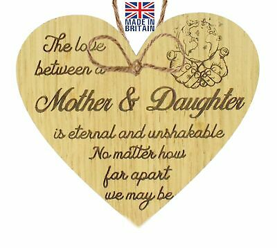 £3.99 • Buy Mother And Daughter Heart Plaque Gifts Keepsake Mum Birthday Mother Day Gift