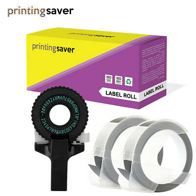 Black Manual Embossing Label Maker Letters For DYMO Printer Refill Tapes • 10.90£