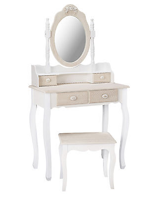 Louis White Painted Dressing Table Set - French Style Vanity Unit / Shabby Chic  • 219£
