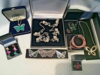 Job Lot Butterfly 🦋 And Insect  Themed Vintage Costume Jewellery • 4£