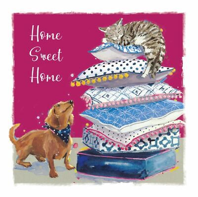 New Home Card - Home Sweet Home - Cat & Dog - The Wildlife Ling Design Quality  • 3.50£