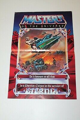 $149.99 • Buy 1981 Masters Of The Universe Be It Known Warrior Citizen In Eternia Poster Rare