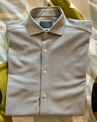 Hackett Aston Martin Grey Slim Fit Shirt - Medium • 40£