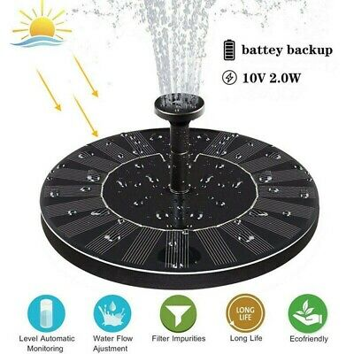 Solar Powered Water Feature Pump With Battery Backup Floating Pool Pond Fountain • 13.89£