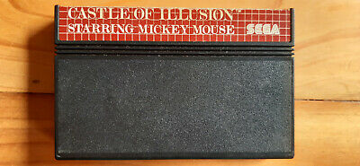 AU0.99 • Buy Sega Master System Game Castle Of Illusion Starring Mickey Mouse