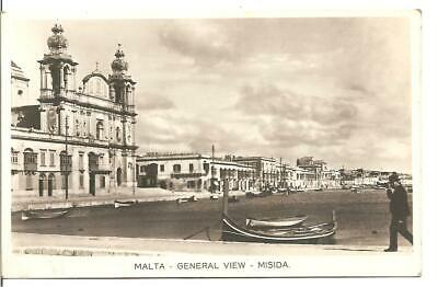 Lovely Rare Vintage Postcard General View Of Misida Malta,rp • 2.99£