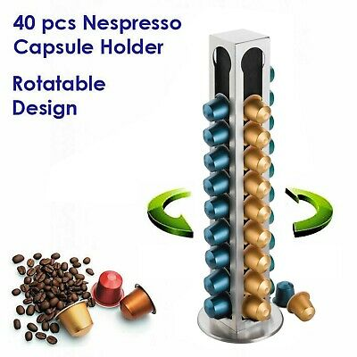 AU26.95 • Buy 40pcs Coffee Capsule Holder, Nespresso Caps Pods Dispenser Rack Stainless Steel