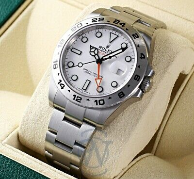 $ CDN14267.88 • Buy Rolex Explorer II GMT Stainless Steel White Dial 216570 W Complete And Unworn