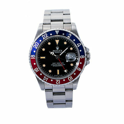 $ CDN14010.30 • Buy Rolex GMT-Master 16700 Pepsi Patina Unpolished Vintage Automatic Stainless 40mm