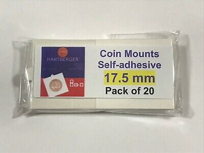 AU6.50 • Buy HARTBERGER BRAND 20 Self Adhesive 2 X 2 Coin Holders 17.5mm