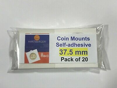 AU6.50 • Buy HARTBERGER BRAND 20 Self Adhesive 2 X 2 Coin Holders 37.5mm