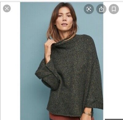 $ CDN33.13 • Buy Anthropologie Moth Pullover Sweater Size XS Womens Green Meadowbound Mock