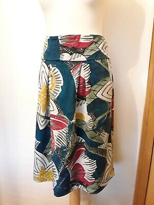 Thought  Teal Floral Skirt  With Pockets Size 16 Excellent Condition • 9.99£