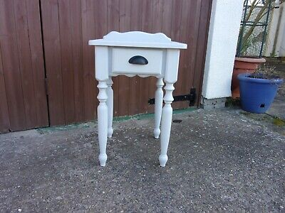 Side / Lamp Table  Painted  In Annie Sloan Chicago Grey With Single Drawer • 35£