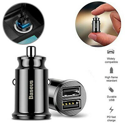 AU9.85 • Buy Baseus 3.1A Fast Car Charger For Samsung S20 S10 S9 Note20 10 IPhone X 11 12 Pro