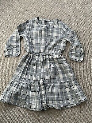 Lovely Girls Gap Grey Check Tunic / Dress - Size L (age 10 Years) • 5£