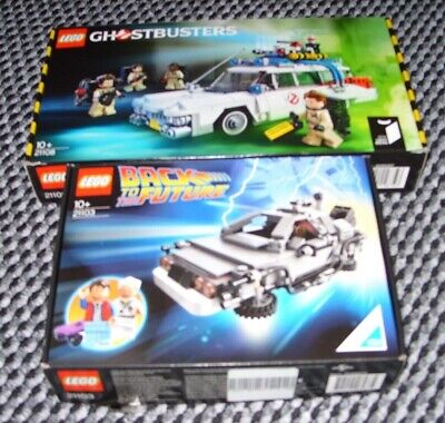 Lego Ghostbusters Ecto 1 (All Pieces In Box) BTTF Delorean (Pieces Missing) • 26£