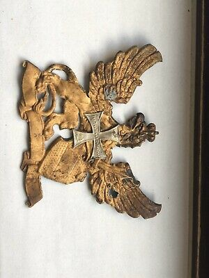 Original Ww1 Imperial German Prussian Pickelhaube Helmet Eagle Emblem • 12.30£