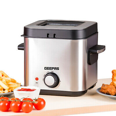 £31.99 • Buy Geepas 1.5L Deep Fat Fryer Basket Oil Fried Chips Fry Food Compact Non-Stick