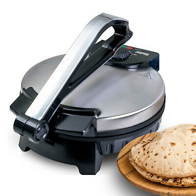 "View Details Geepas 10"" Electric Chapati Maker Flat Bread Naan Tortilla Roti Press Machine • 39.99£"