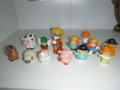 Fisher Price Little People Animals And Figures Bundle • 3£