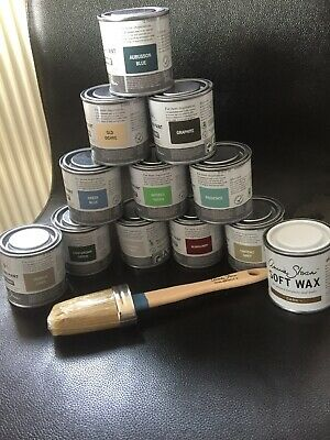 Annie Sloan Paint Brush For Chalk Paint + Small Tin  DARK Wax & Paint • 39.99£